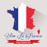 Happy Bastille Day Celebration Banner Royalty Free Stock Photos