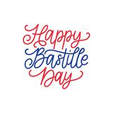 Happy Bastille Day concept. Color background of French National flag. 14th July design for greeting card, poster etc. Happy Bastille Day concept. Color Stock Photography