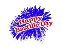 Happy Bastille Day Graphic Logo. Happy Bastille Day Theme Graphic Logo isolated on white background Royalty Free Stock Image