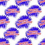 Happy Bastille Day Graphic Pattern. Happy bastille day graphic seamless pattern design Stock Photography