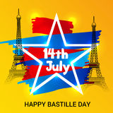 Happy Bastille Day. Royalty Free Stock Photo