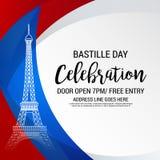 Happy Bastille Day. Stock Image