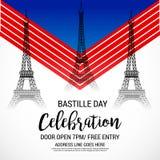 Happy Bastille Day. Stock Photos