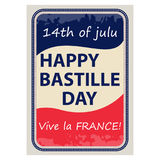 Happy Bastille Day, July 14. Viva France s National Day. Suitable for the design of your poster, banner, campaign, and a postcard. Stock Vector stock illustration