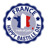 Happy Bastille Day, July 14. Viva France s National Day. Suitable for the design of your poster, banner, campaign, and a postcard. Stock Vector vector illustration