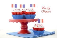 Happy Bastille Day Party Cupcakes Royalty Free Stock Photos