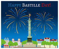 Happy Bastille Day Stock Images