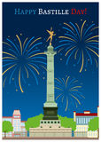 Happy Bastille Day Royalty Free Stock Images