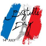 Happy Bastille Day!. 14 th of July. Happy Bastille Day. Creative Vector illustration, card, banner or poster for the French National Day stock illustration