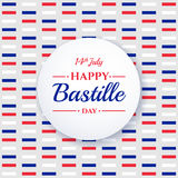Happy Bastille day, 14th July. French holiday Stock Photos