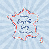 Happy Bastille Day and 14th July Stock Photo