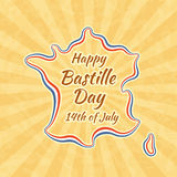 Happy Bastille Day and 14th July Royalty Free Stock Images