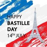 Happy Bastille Day!. 14 th of July. Happy Bastille Day. Creative Vector illustration, card, banner or poster for the French National Day royalty free illustration