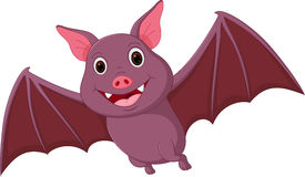 Happy Bat cartoon flying Royalty Free Stock Photos