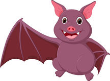 Happy Bat cartoon waving Stock Images
