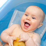 Happy bathing Stock Images