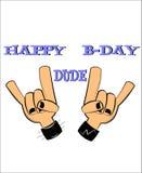 Happy bday dude Royalty Free Stock Photography
