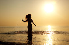 Happy at the beach Royalty Free Stock Photos