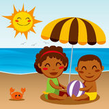 Happy Beach Baby Stock Images