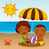 Happy Beach Baby Stock Images