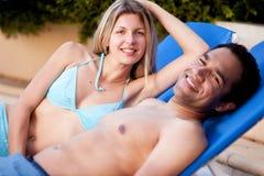 Happy Beach Couple Stock Image