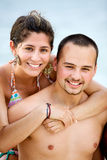 Happy beach couple Royalty Free Stock Images