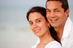 Happy beach couple Stock Photography