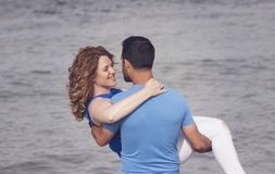 Happy beach couple Royalty Free Stock Photography