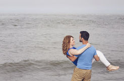 Happy beach couple Stock Image