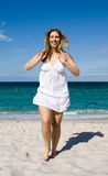 Happy Beach Girl Royalty Free Stock Images