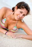 Happy beach girl Royalty Free Stock Photos