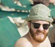 Happy on the beach in Mexico Stock Photos