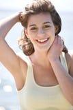 Happy beach summer girl Stock Photography