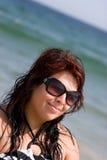 Happy Beach Woman Royalty Free Stock Photos