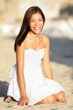 Happy beach woman Royalty Free Stock Images