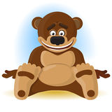 Happy bear. The vector illustration Royalty Free Stock Photography