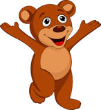 Happy bear cartoon Stock Image