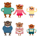 Happy Bear Family Royalty Free Stock Photos