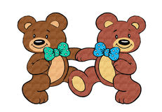 Happy Bear Friends Stock Images