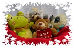 Happy bear friendship and happy birthday and children pets love and flowers and teddys Royalty Free Stock Photography