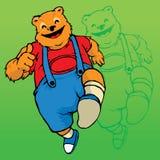 Happy Bear Mascot Royalty Free Stock Image