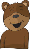 Happy bear. Vector cartoon illustration happy smiling brown bear Royalty Free Stock Photography