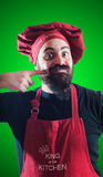 Happy bearded chubby chef Stock Images