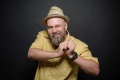 Happy bearded man Stock Images
