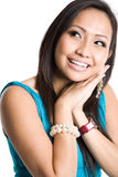 Happy beautiful asian woman Royalty Free Stock Photography