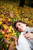 Happy beautiful autumn woman Royalty Free Stock Image