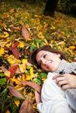 Happy beautiful autumn woman Royalty Free Stock Image