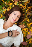 Happy beautiful autumn woman Royalty Free Stock Photography