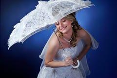 Happy beautiful bride Stock Photos