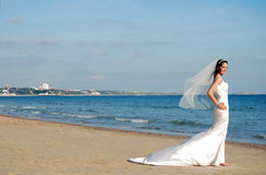 Happy beautiful bride Royalty Free Stock Images